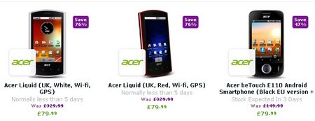 acer android sales