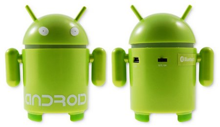 android mascot bluetooth speaker