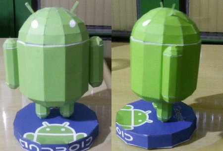 android robot papercraft