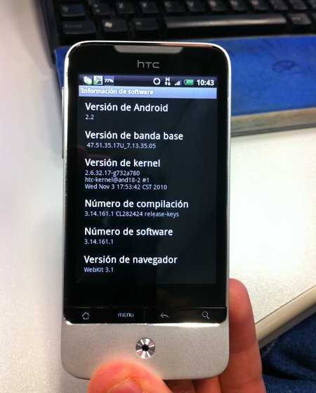android update htc legend