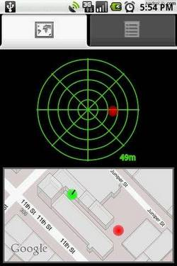 Car Locator on Android.