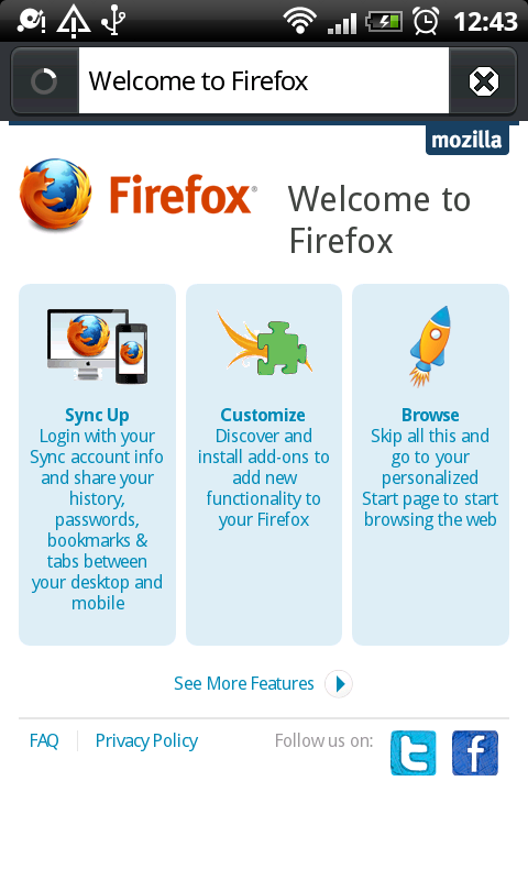 Firefox is compatible with Android 2.0 and above devices .