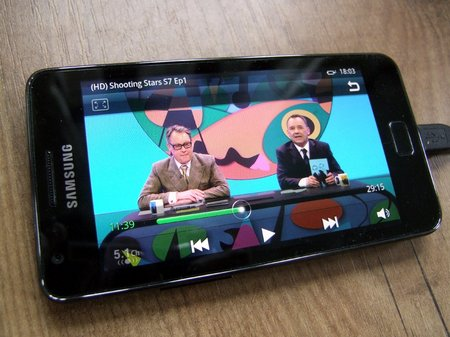 galaxy s2 720p video playback