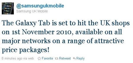 galaxy tab uk launch date