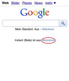 google instant android 2