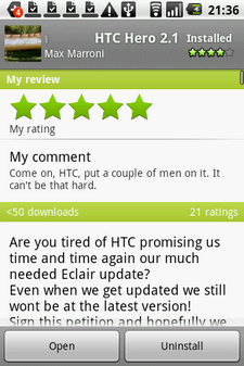HTC Hero update