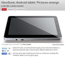 viewsonic android tablet