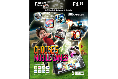 gameloft game card